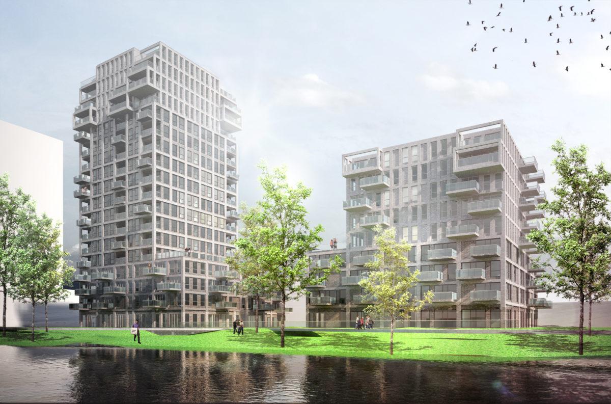 Twee woontorens in Amersfoort