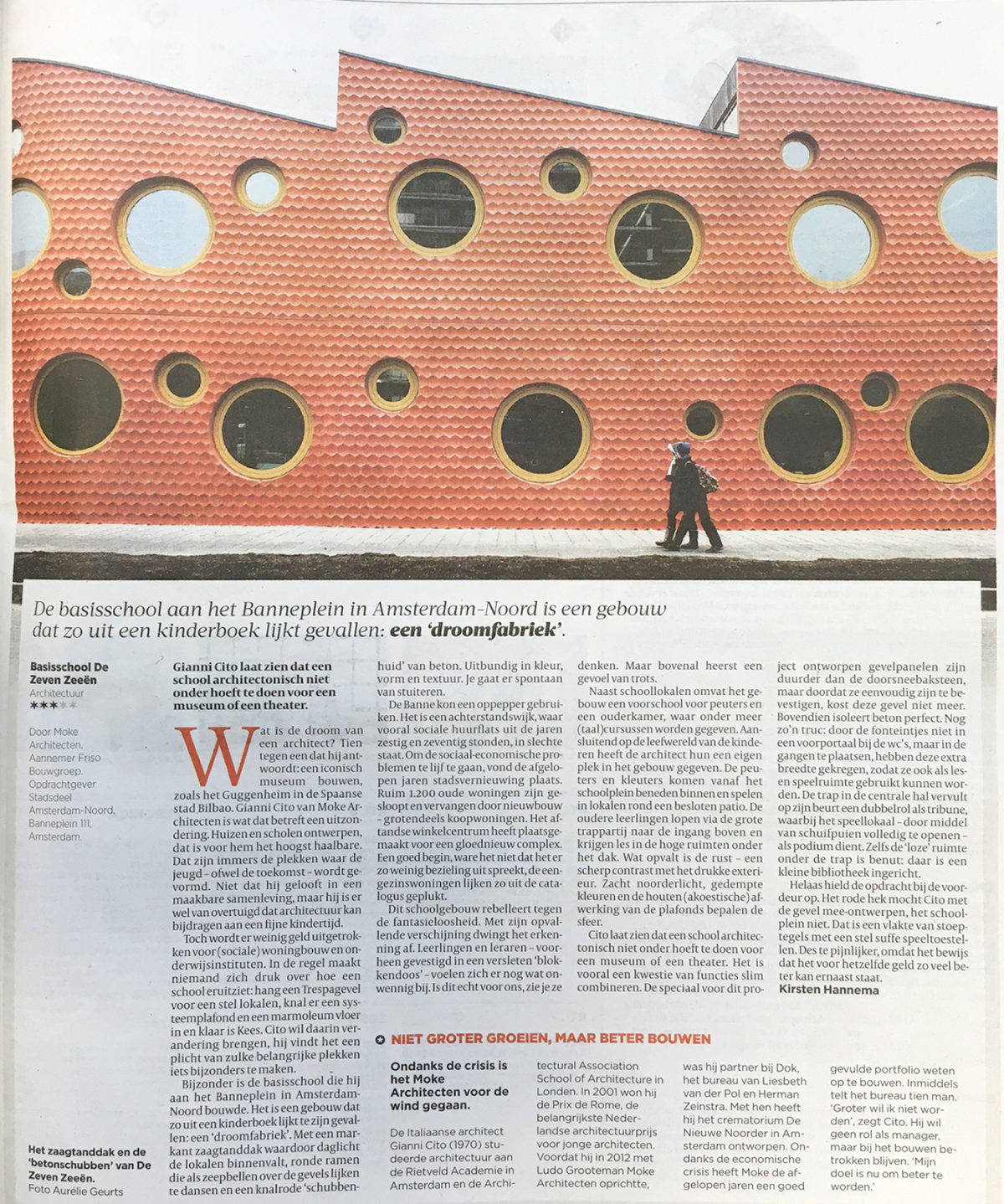 IKC Zeven Zeeën in Volkskrant