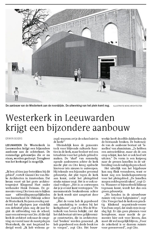 Westerkerk in de Leeuwarder Courant